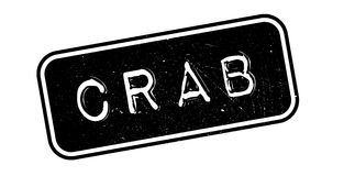 Crab rubber stamp Stock Image