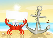 Crab sailor Royalty Free Stock Images