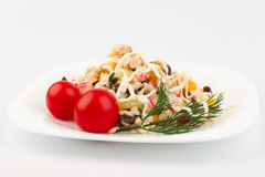 Crab salad on the dish Stock Image