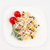 Crab salad on the dish Royalty Free Stock Photos