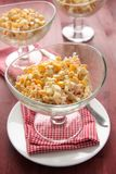 Crab salad with eggs, sweet corn and mayonnaise Stock Photo
