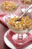 Crab salad with eggs, sweet corn and mayonnaise Stock Image