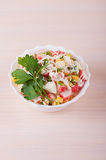 Crab salad with mayonnaise Royalty Free Stock Photo