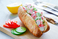 Crab salad sandwich Royalty Free Stock Image
