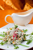 Crab salad with sweet corn Stock Image