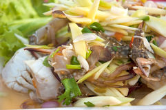 Crab salad in thai style Royalty Free Stock Images