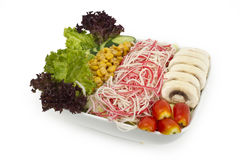 Crab salad and veggies Stock Image