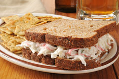 Crab sandwich Royalty Free Stock Photo
