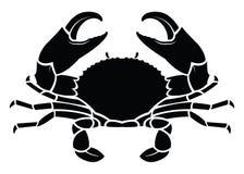 Crab sea animal silhouette Stock Images