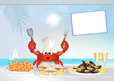 Crab seafood cuisine Royalty Free Stock Images