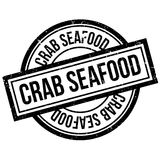 Crab Seafood rubber stamp Royalty Free Stock Photos