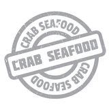 Crab Seafood rubber stamp Stock Photography