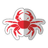Crab sealife isolated icon. Vector illustration design royalty free illustration