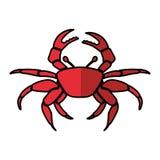 Crab sealife isolated icon. Vector illustration design vector illustration