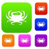Crab set collection. Crab set icon in different colors isolated vector illustration. Premium collection Stock Image