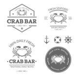 Crab set vector illustration