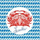 Crab sign Royalty Free Stock Image