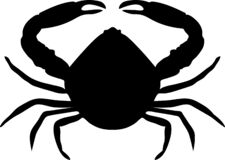 Crab silhouette isolated