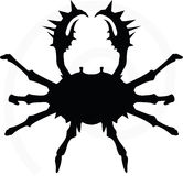 Crab silhouette Stock Photos