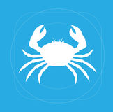Crab Silhouette. Wild Crab Animal Silhouette Vector Illustration Royalty Free Stock Image