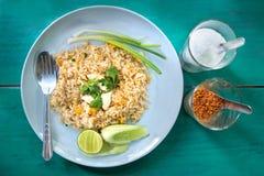 crab smażących mięsnych ryż Obrazy Stock