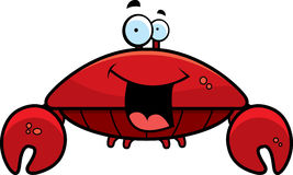 Crab Smiling. A cartoon red crab smiling and happy Royalty Free Stock Image