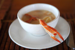 Crab soup Stock Images
