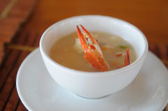 Crab soup Royalty Free Stock Photo