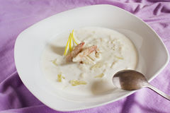 Crab soup Royalty Free Stock Photography