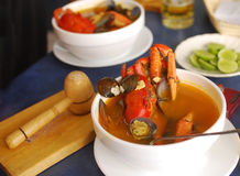 Crab soup Stock Photography