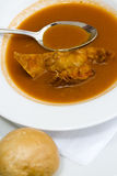 Crab soup Royalty Free Stock Images