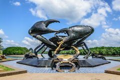 Crab statue. Famous statue of crab in the town of krabi thailand Royalty Free Stock Images