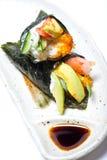 Crab stick and avocado temaki Stock Image