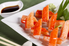 Crab stick dish Royalty Free Stock Photography