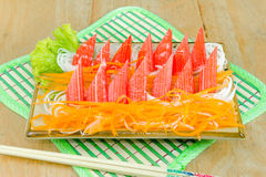 Crab stick with fresh vegetables Stock Image