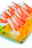 Crab stick with fresh vegetables Royalty Free Stock Images