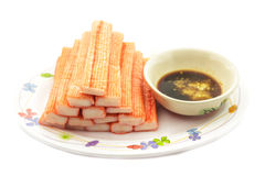 Crab stick Royalty Free Stock Images