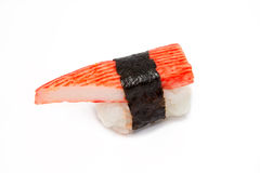 Crab stick sushi Stock Images