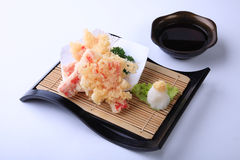 Crab stick Tempura, deep fried sliced squid in japanese dish Royalty Free Stock Photography
