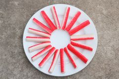 Crab sticks Royalty Free Stock Images
