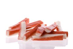 Crab Sticks Isolated Stock Photo