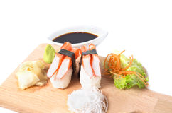 Crab Sticks nigiri Royalty Free Stock Image
