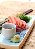 Crab sticks on a plate Stock Image