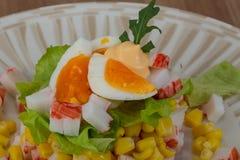 Crab sticks salad Stock Images