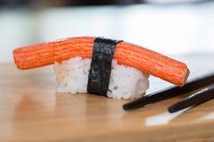 Crab sticks sushi, Japanese food Royalty Free Stock Photos