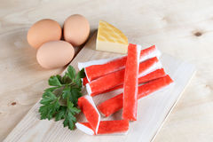 Crab sticks Royalty Free Stock Photography