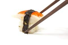 Crab Sushi with Chopsticks Royalty Free Stock Photo
