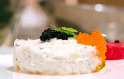 Crab terrine with cavair and roe Stock Photo