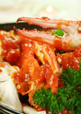Crab In Tomato Sauce Stock Photos