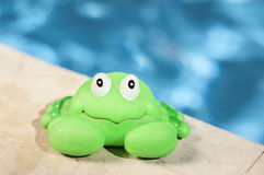 Crab toy near the pool Royalty Free Stock Photos